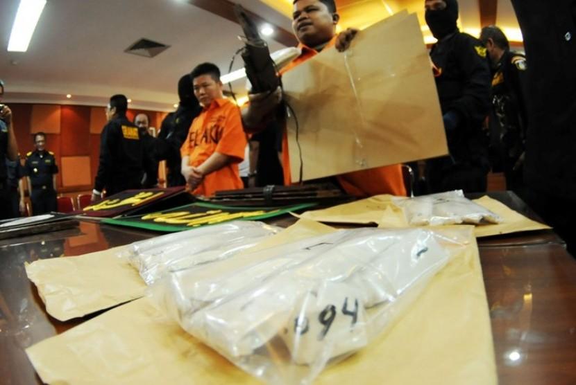Bea Cukai menggagalkan penyelundupan narkoba ke tanah air (ilustrasi)