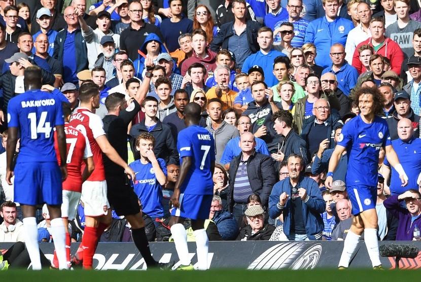 Diwarnai Kartu Merah, Chelsea Vs Arsenal Berakhir 0-0