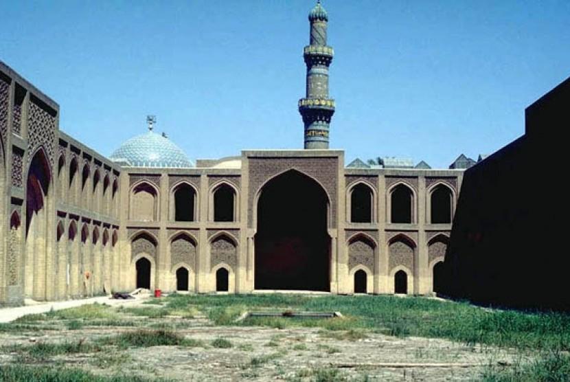 Bekas istana Daulah Abbasiyah di Baghdad, Irak.