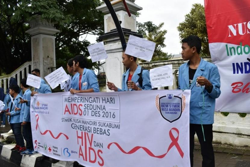 Sosialisasi bahaya HIV/AIDS (ilustrasi)