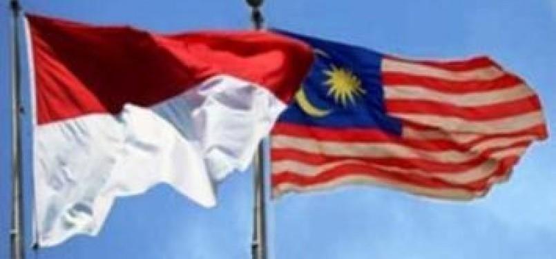 Bendera Indonesia dan Malaysia