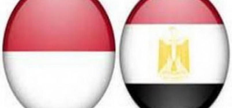 Bendera Indonesia-Mesir (ilustrasi)