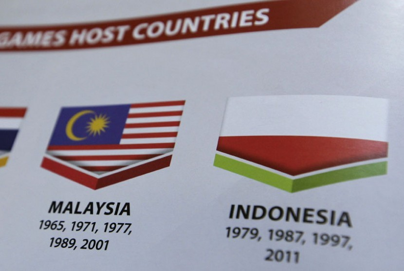 Indonesian flag was printed upside down in the SEA Games reference book.