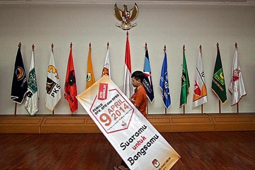 Bendera Parpol Peserta Pemilu 2014