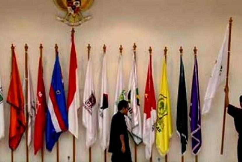 Bendera partai politik (ilustrasi)