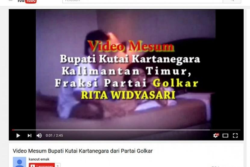 Beredar video mesum mirip Bupati Kutai Kartanegara, Rita Widyasari di Youtube.