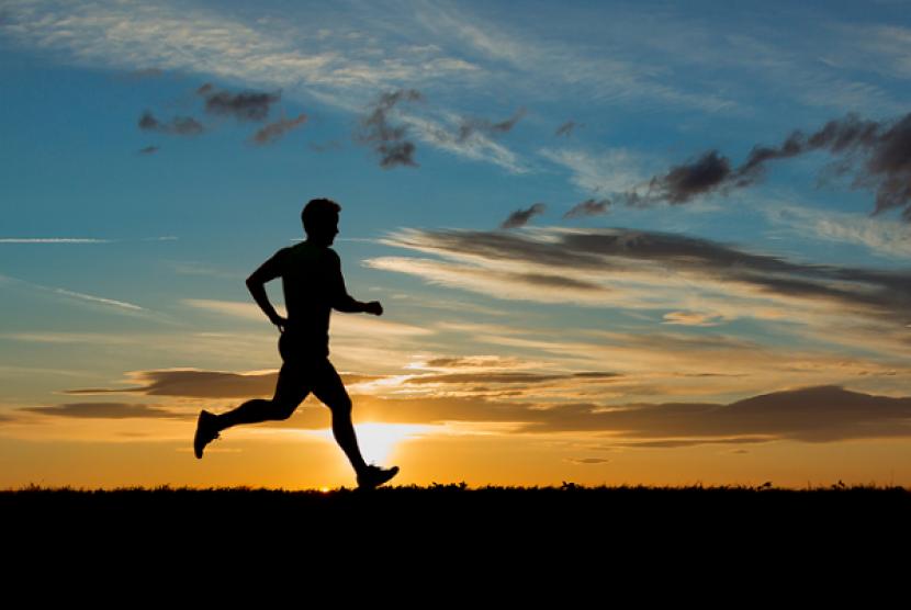 Berlari marathon. Iustrasi