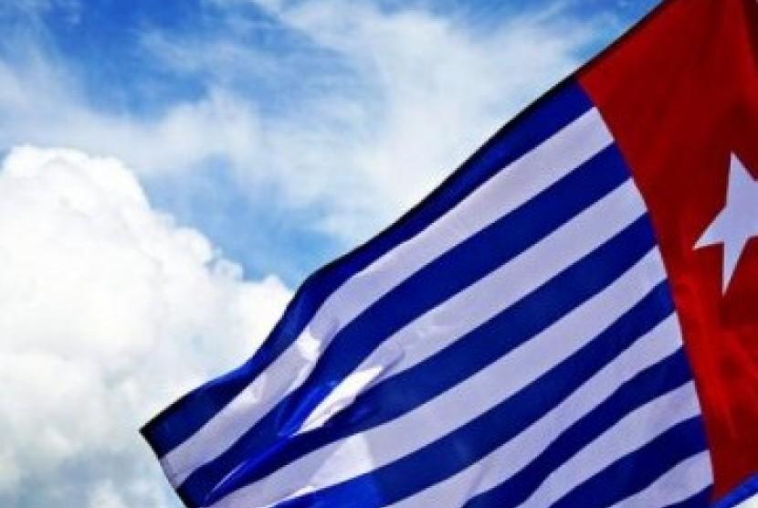 Bintang Kejora, bendera Organisasi Papua Merdeka (OPM).