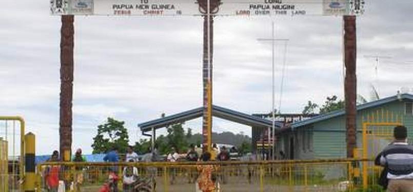 Bisnis pakaian nampaknya jadi usaha menjanjikan di pasar perbatasan Papua-PNG