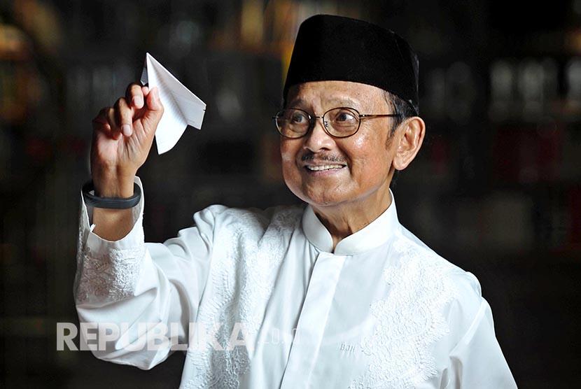 BJ Habibie (Foto: Edwin Dwi Putranto/Republika)