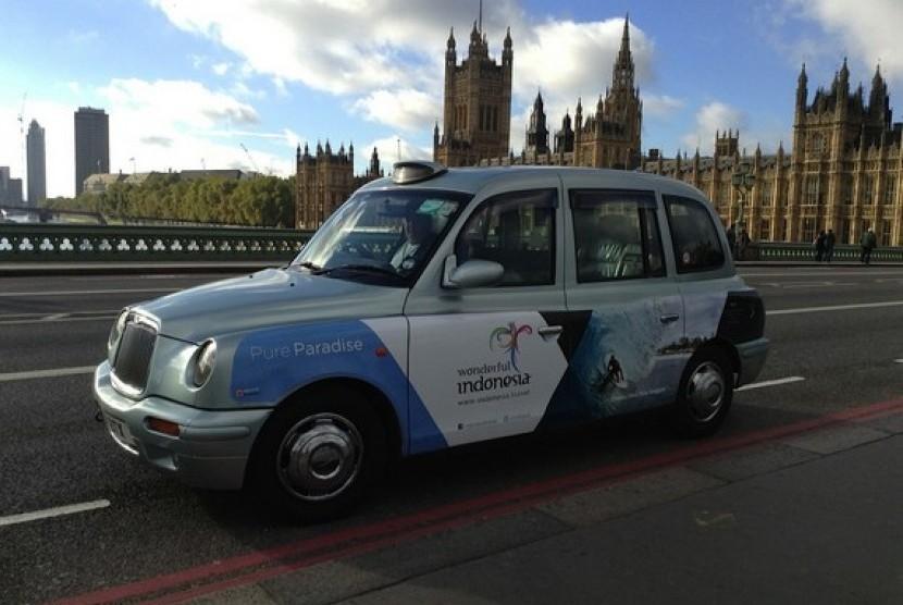 Wonderful Indonesia di taksi ikonik di London. Image: Republika