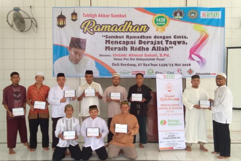 BMH Sumut menggelar acara Berbagi Kebaikan untuk Dai Tangguh, ustaz, imam masjid dan mualaf.