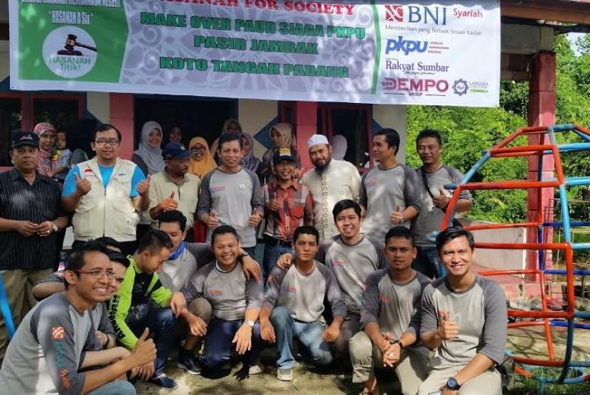 BNI Syariah dan Mitra Gandeng PKPU Renovasi Paud Binaan