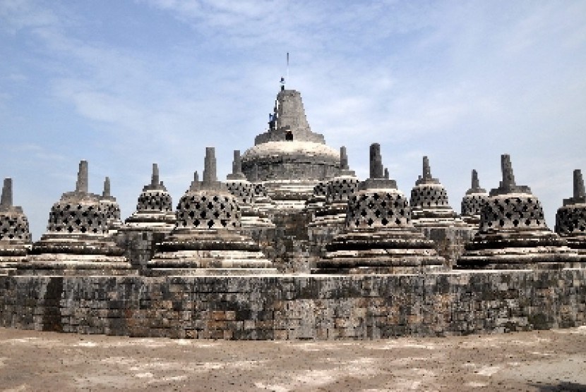 Borobudur Temple is one of main tourist attraction in central Java.