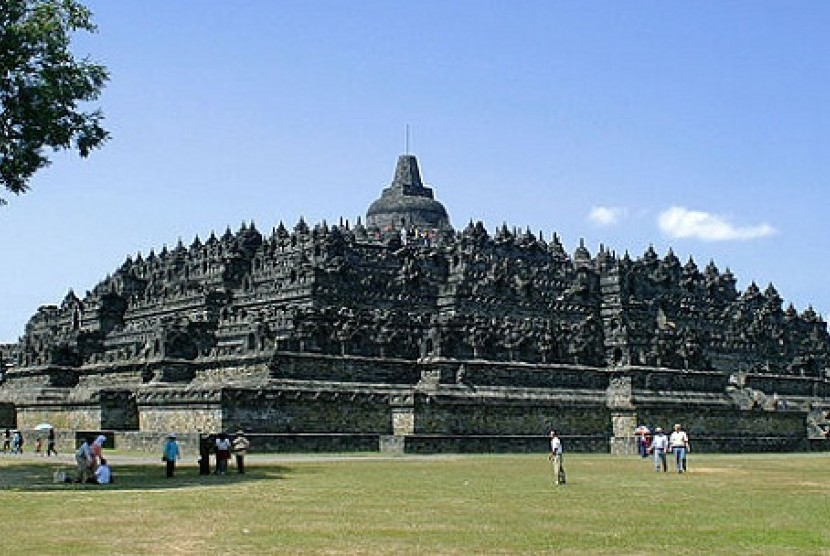 Borobudur Temple in Magelang, Central Java