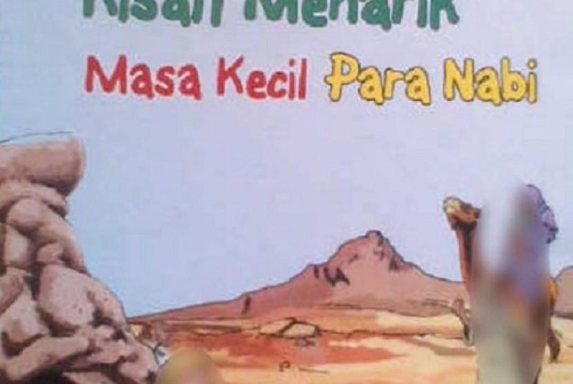 Buku 'Kisah Menarik Masa Kecil Para Nabi' yang beredar di Kota Solo, memuat ilustrasi gambar Nabi Muhammad SAW.