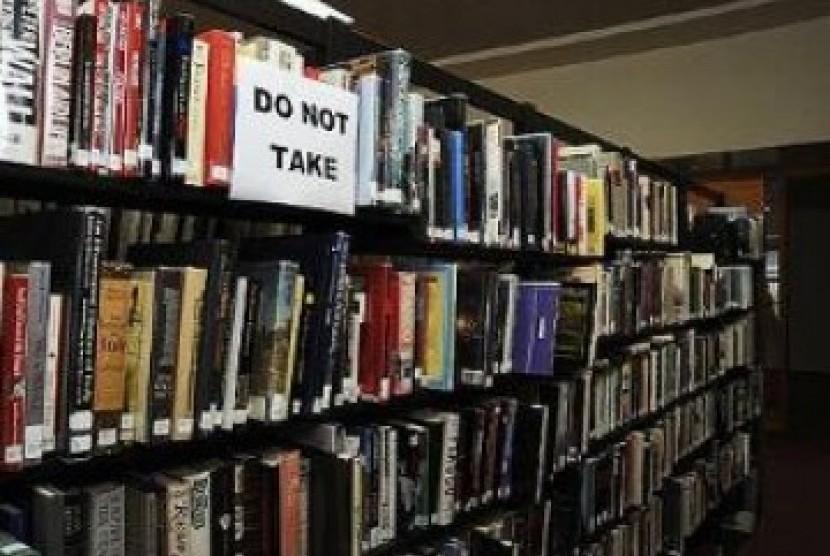 Buku perpustakaan/ilustrasi