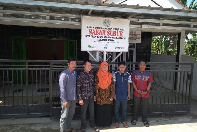 BUMDes Sabar Subur binaan PGN di Desa Teluk Terate, Kecamatan Kramatwatu, Kabupaten Serang