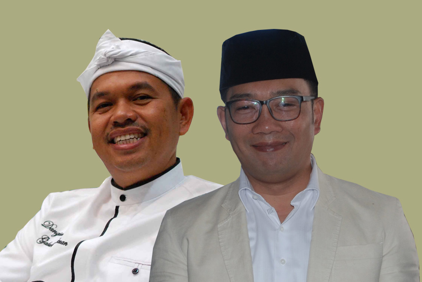 Bupati Purwakarta Dedi Mulyadi (kiri) dan Wali Kota Bandung Ridwan Kamil (kanan)