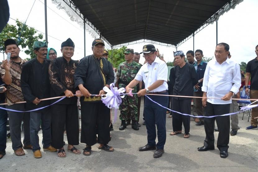 Bupati Sumedang Resmikan Proyek Infrastruktur Ujungjaya
