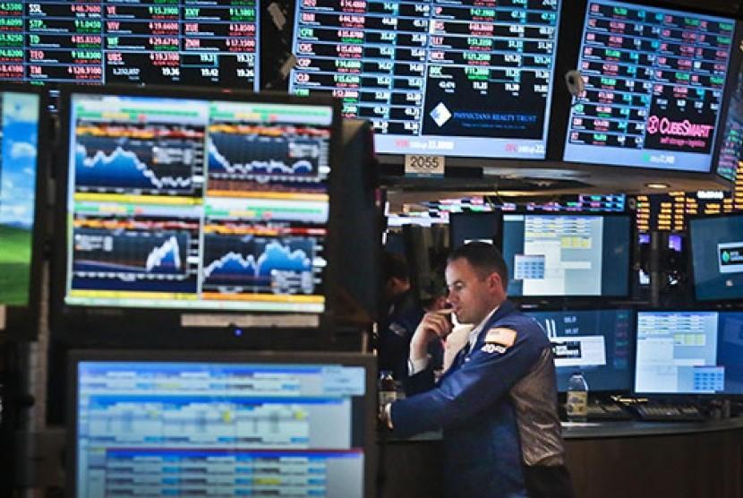 Bursa saham di Wall Street