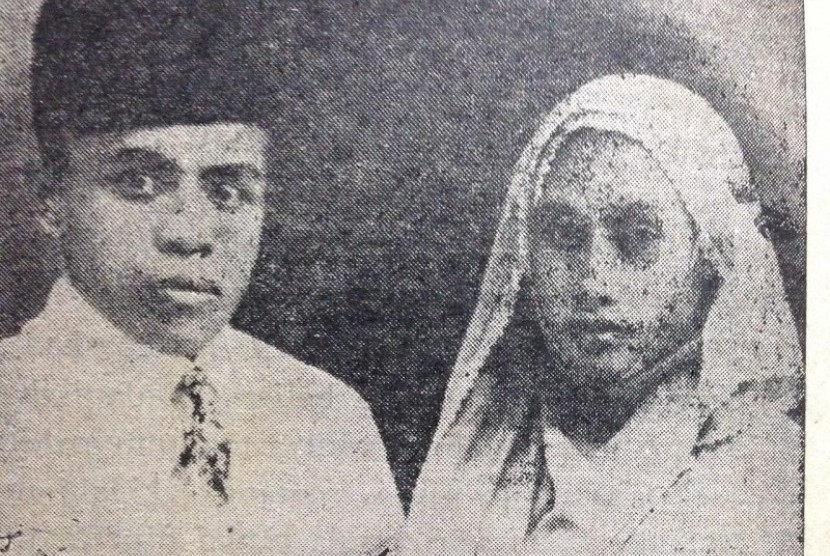 Buya Hamka dan istrinya Siti Raham