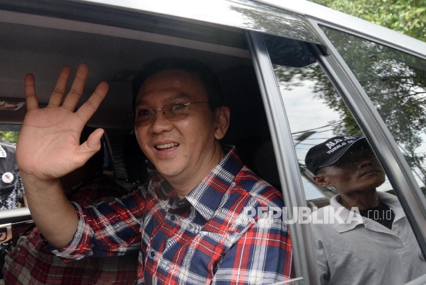 Calon gubernur DKI Jakarta Basuki Tjahaja Purnama alias Ahok