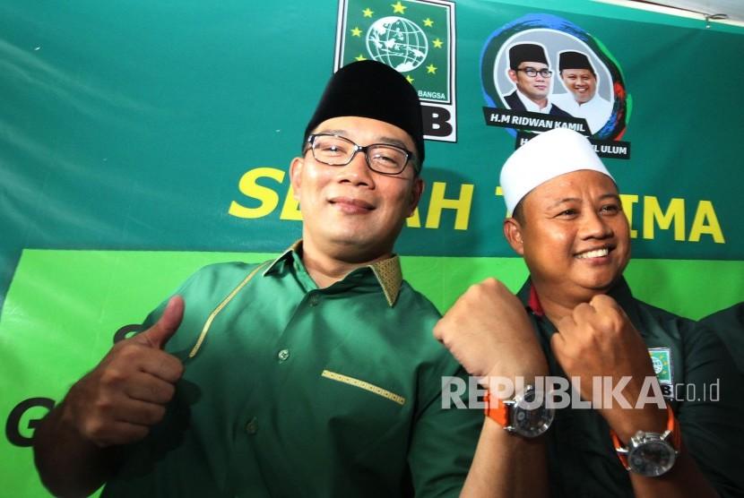 Ridwan Kamil Teken Kontrak Politik dengan PKB