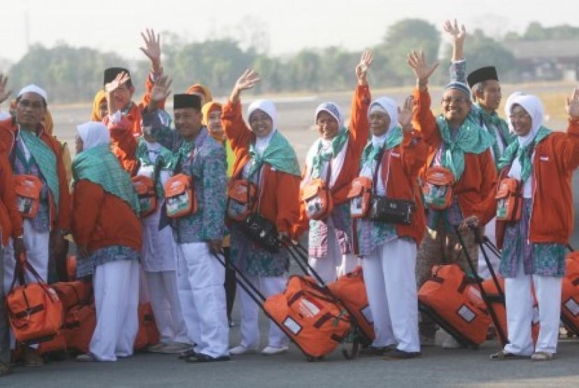 Calon jamaah haji Indonesia siap berangkat ke Tanah Suci (ilustrasi).