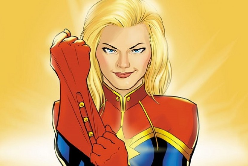 Captain Marvel, superhero perempuan terkuat.