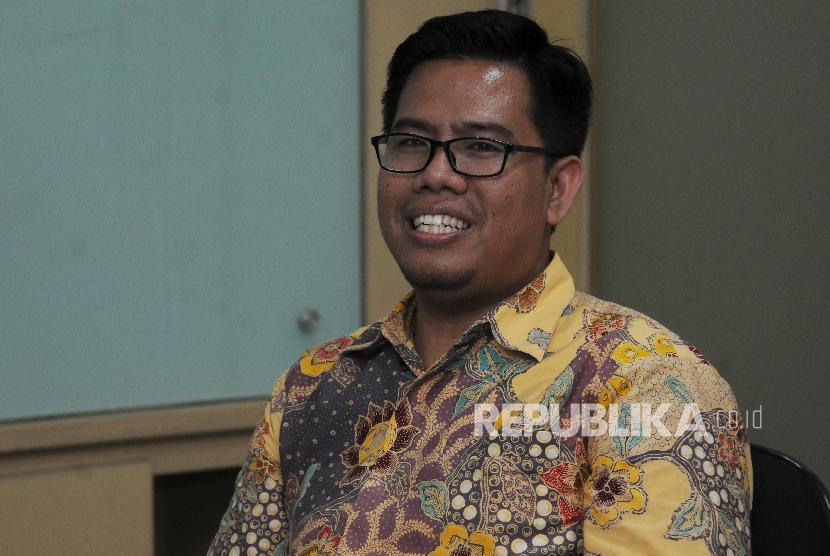CEO Rumah Zakat Nur Efendi saat berkunjung ke Kantor Republika, Jakarta Selatan, Kamis (21/12).