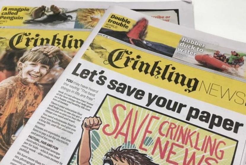 Crinkling News sekarang dibaca sekitar 30 ribu anak-anak sejak terbit setahun lalu.
