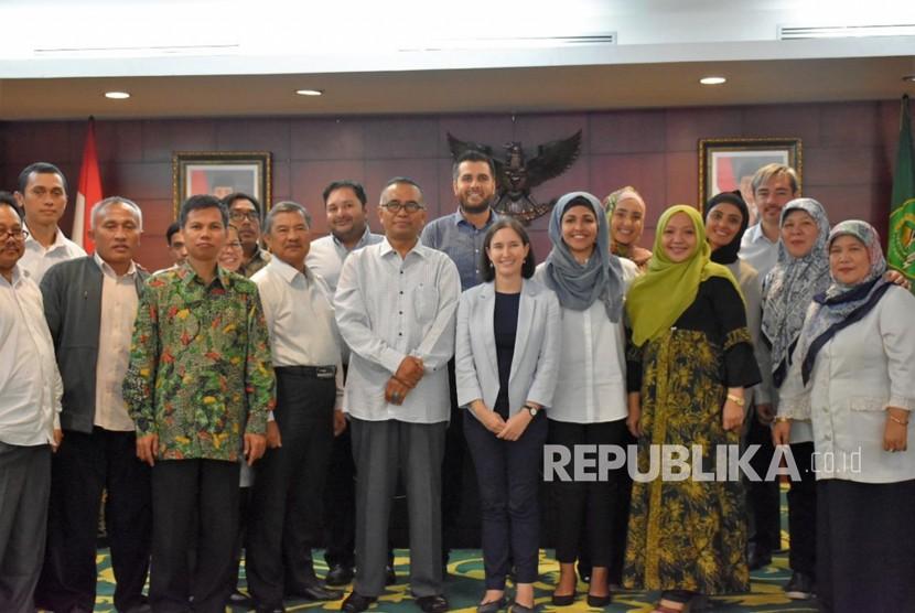 Delegasi Tokoh Muda Muslim Australia Berkunjung ke Kemenag.