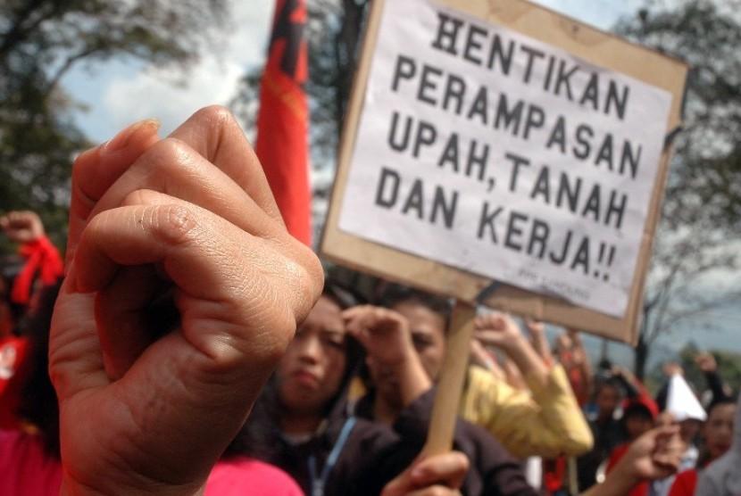 Demo Serikat Buruh (ilustrasi)