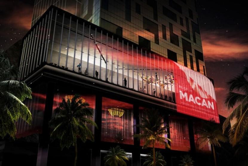 Desain Museum of Modern and Contemporary Art in Nusantara (MACAN) yang akan dibuka di Kebon Jeruk, Jakarta, tahun depan.