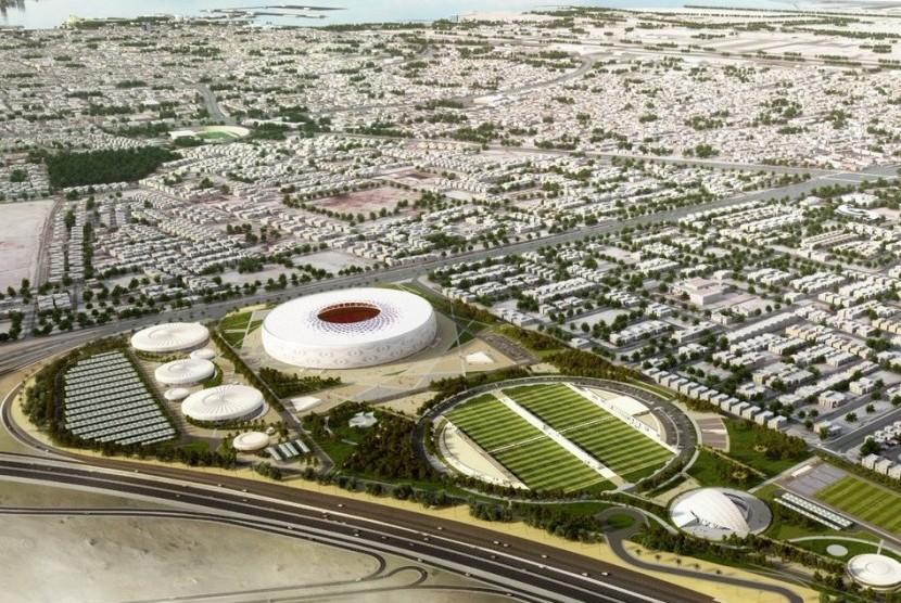 Qatar Bangun Stadion Piala Dunia 2022 Berdesain Kopiah Arab
