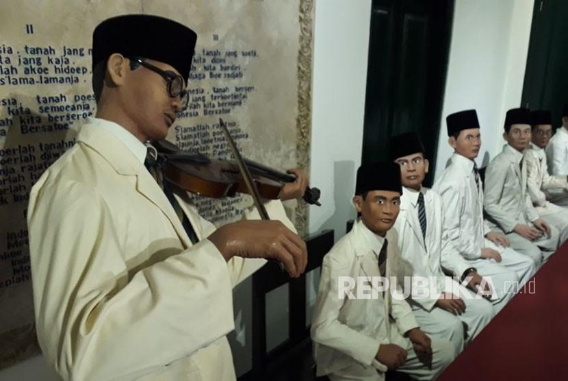 Diorama dan barang bersejarah di Museum Sumpah Pemuda, Jalan Kramat Raya 106, Kwitang, Senen, Jakarta Pusat.