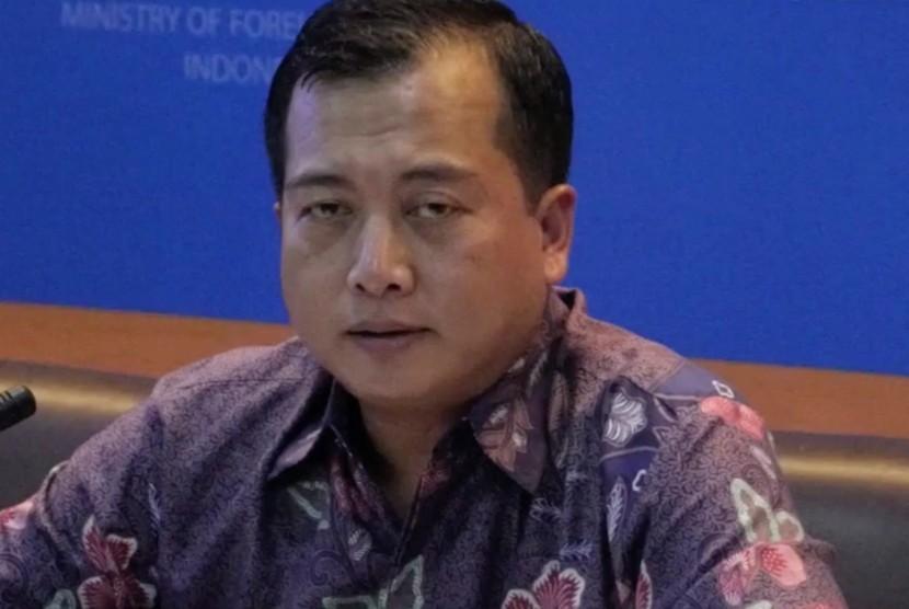 Direktur Perlindungan WNI dan Bantuan Hukum Indonesia Kementerian Luar Negeri Lalu Muhammad Iqbal