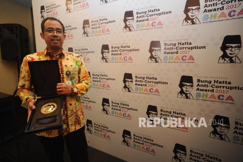 Dirjen Bea dan Cukai Heru Pambudi dalam Anugerah Bung Hatta Anti Corruption Award 2017 Jakarta, Kamis Malam (14/12). Tahun ini Anugrah Bung Hatta Anti Corruption Award di berikan kepada Dirjen Bea dan Cukai Heru Pambudi dan Bupati Bantaeng , Sulawesi Selatan Nurdin Abdulah.