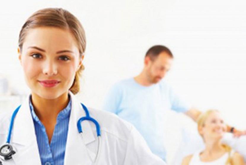 Dokter di sebuah rumah sakit. ilustrasi