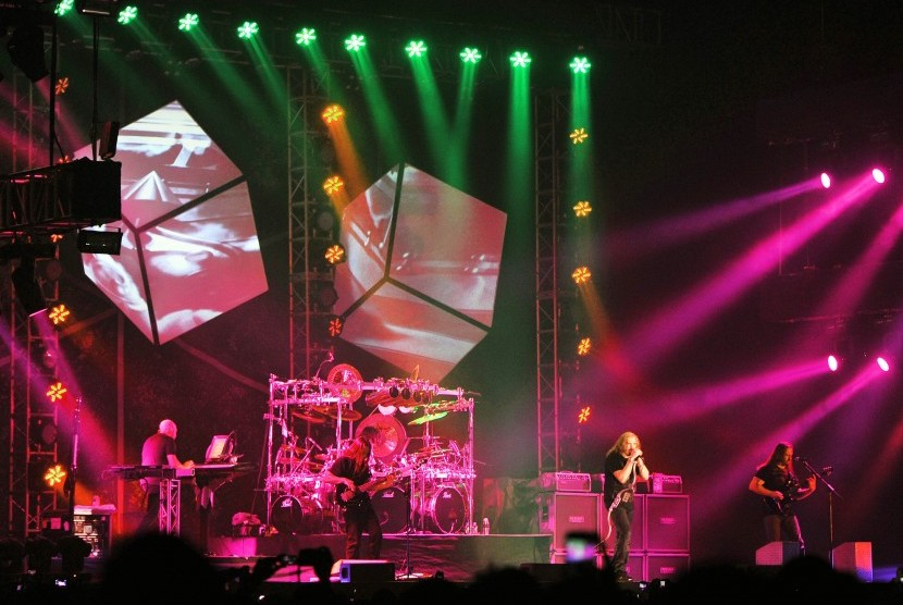 Dream Theater performs in Ancol, Jakarta, on Saturday