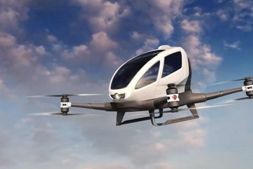 Drone Penumpang di Dubai.