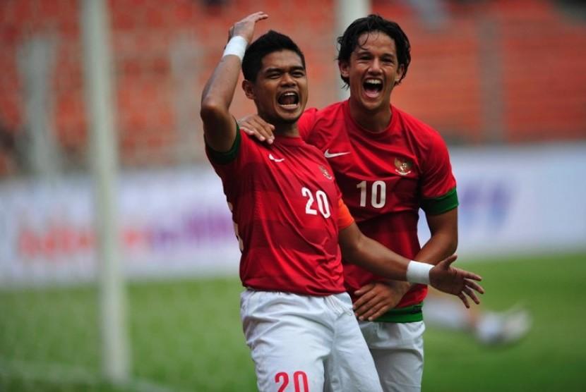 Duet lini depan Timnas Bambang Pamungkas-Irfan Bachdim