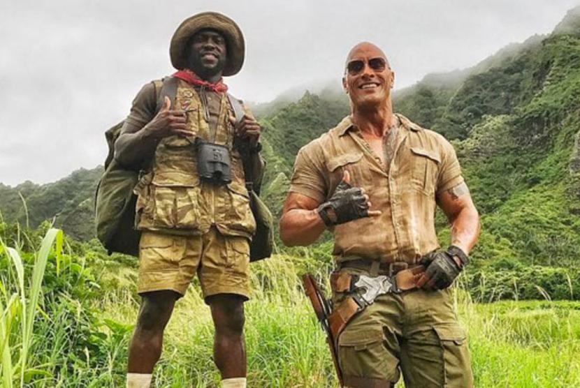 Dwayne 'The Rock' Johnson dalam film Jumanji Welcome to the Jungle