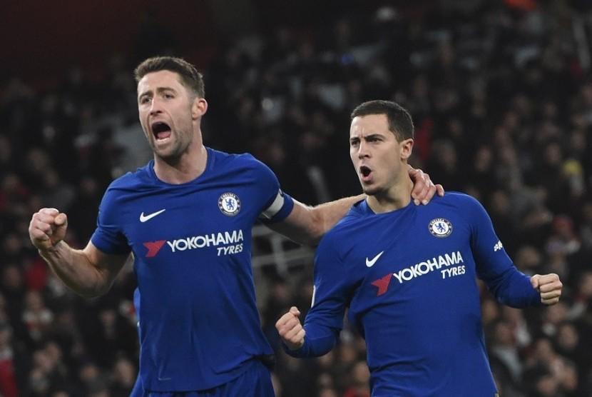 Chelsea Ditahan Imbang Arsenal, Hazard: Kami Harusnya Menang