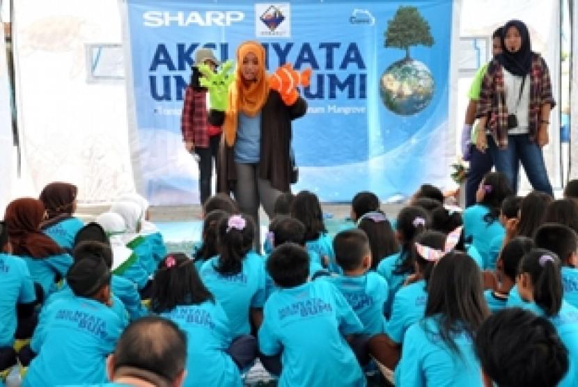 Edutainment SHARP di Pulau Harapan, Kepulauan Seribu