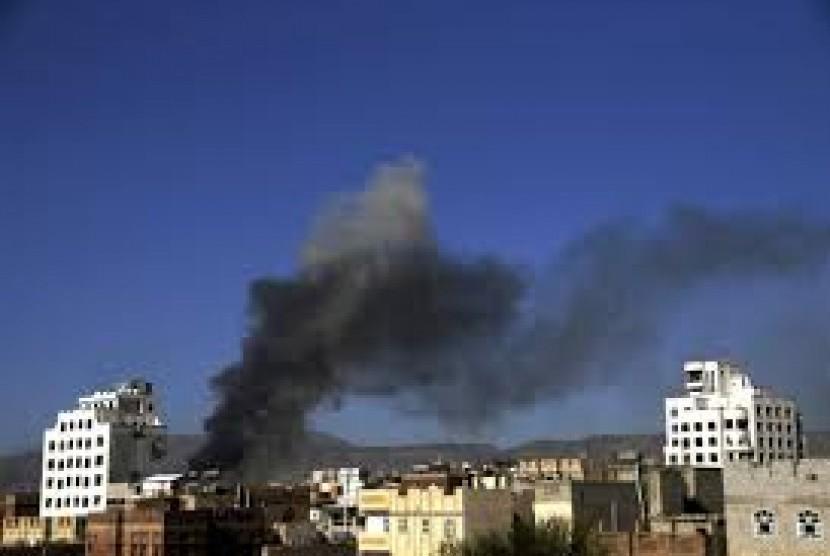 Efek serangan rudal scud milisi Houthi.