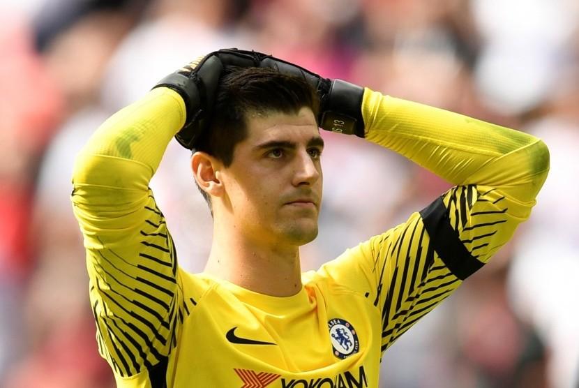 Courtois Akui Leicester Tampil Lebih Baik dari Chelsea