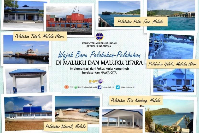 Enam pelabuhan di Maluku, Maluku Utara dan Papua Barat siap diresmikan.