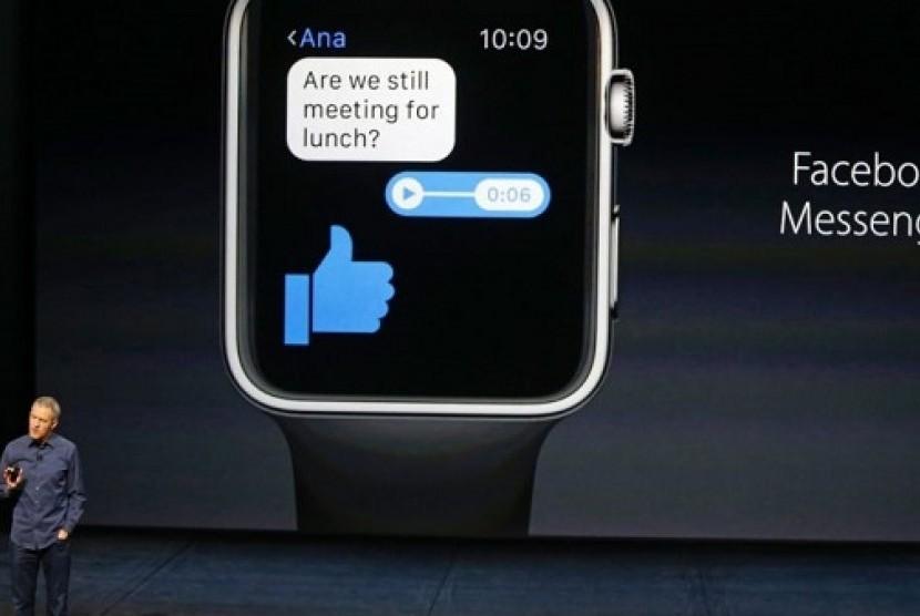 Facebook Messenger. Ilustrasi
